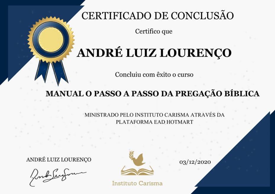 Certificado Manual